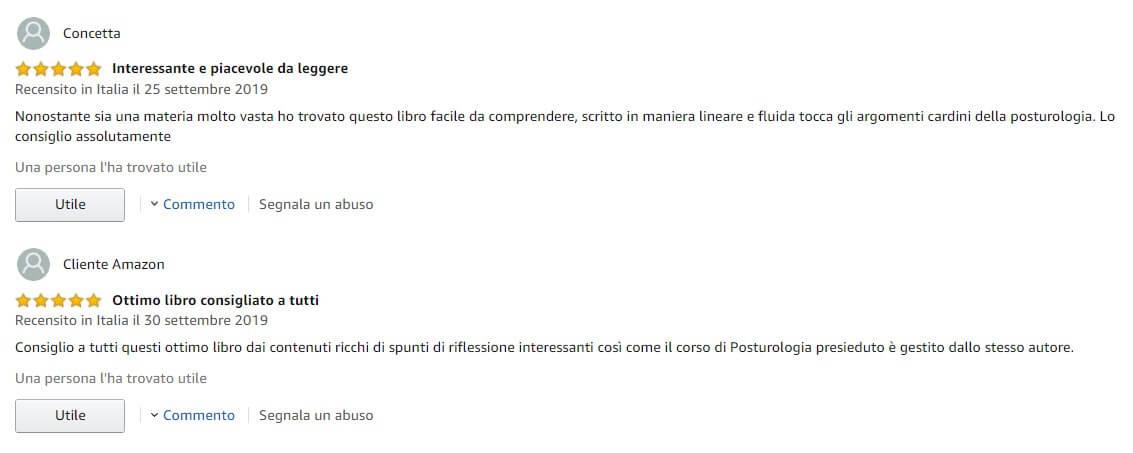 Luca Orabona Libro Posturologia feedback