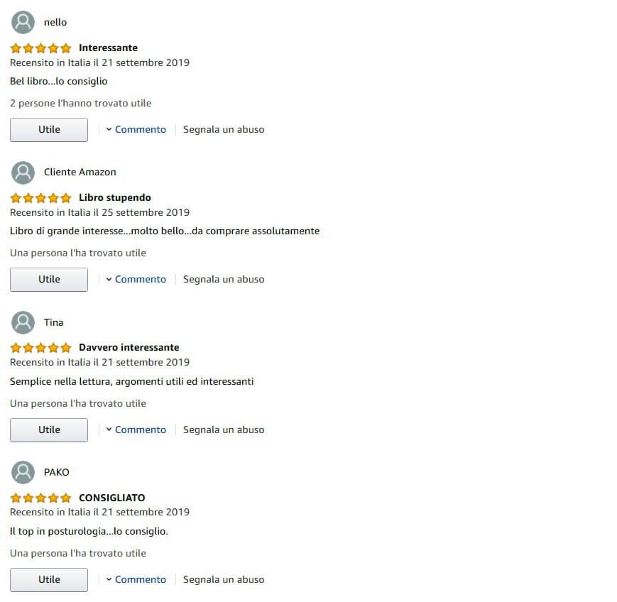 Nello Amazon Libro Posturologia feedback